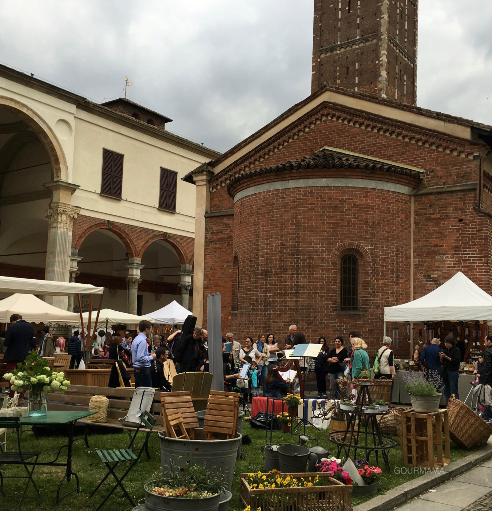 Flora et decora Basilica di Sant'Ambrogio, gourmama