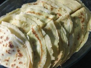 crepes asparagi ricetta gourmama disposizione nella pirofila
