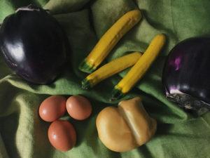 quiche di melanzane e zucchine gialle gourmama ingredienti