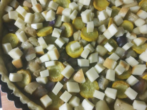 quiche di melanzane e zucchine gialle gourmama ripieno