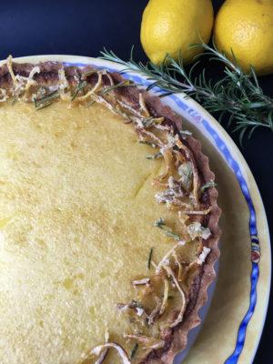 crostata al rosmarino con crema di limoni dettaglio