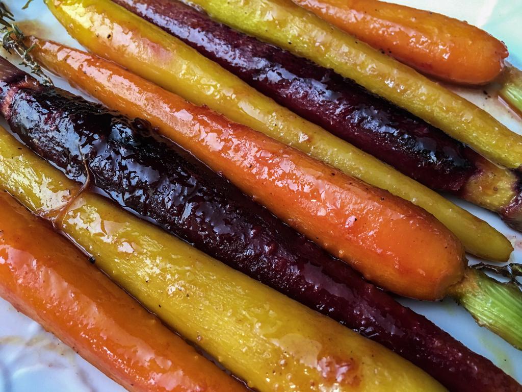 carote colorate glassate dettaglio