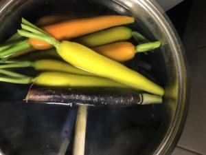 carote colorate glassate sbollentate