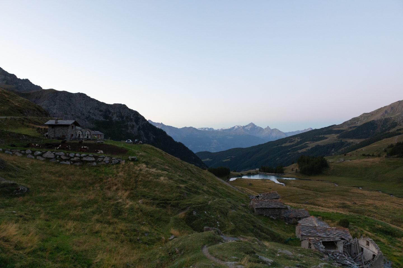 estrema d'alpeggio fontina dop panorama