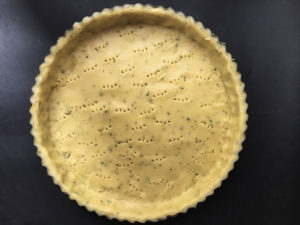crostata al rosmarino con crema di limoni cottura in bianco
