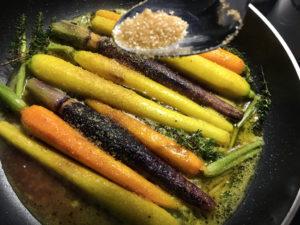 carote colorate glassate aggiunta zucchero