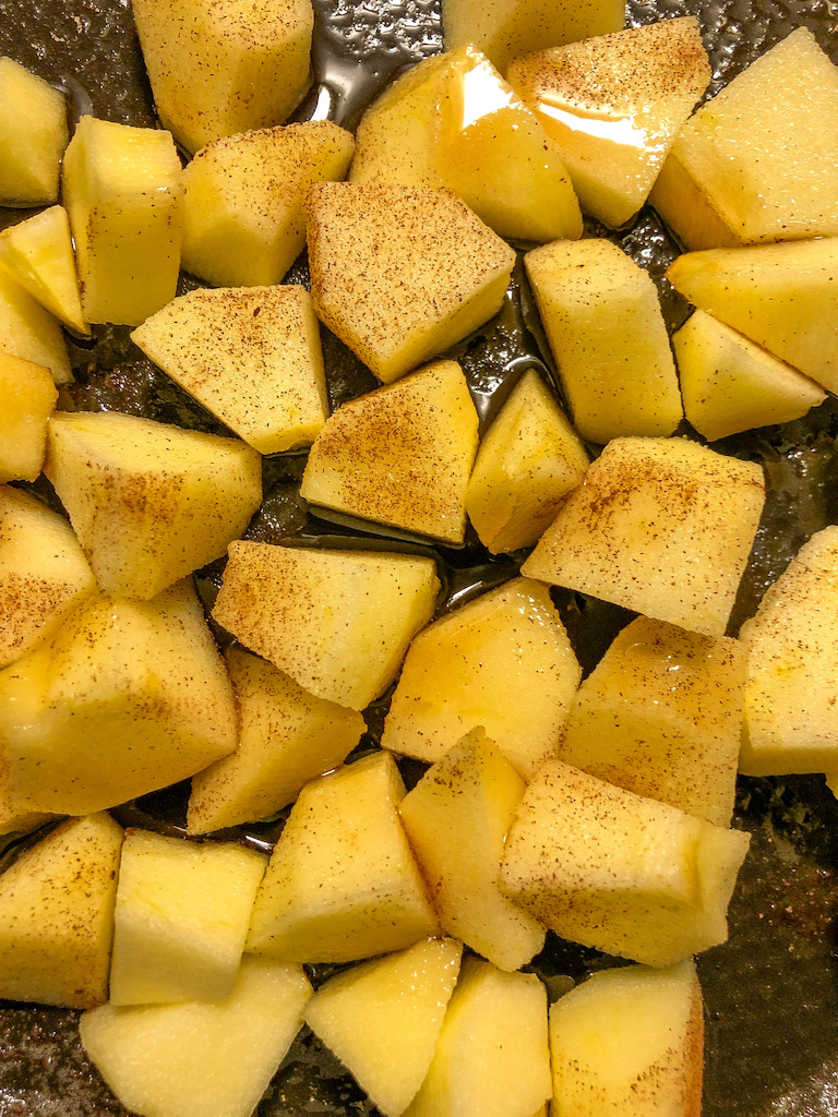 blondies alle mele e caramello salato preparazione_5