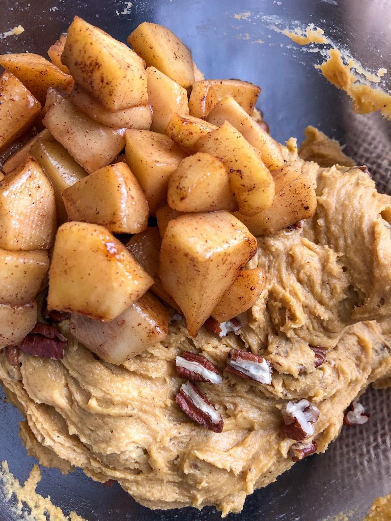 blondies alle mele e caramello salato preparazione_9