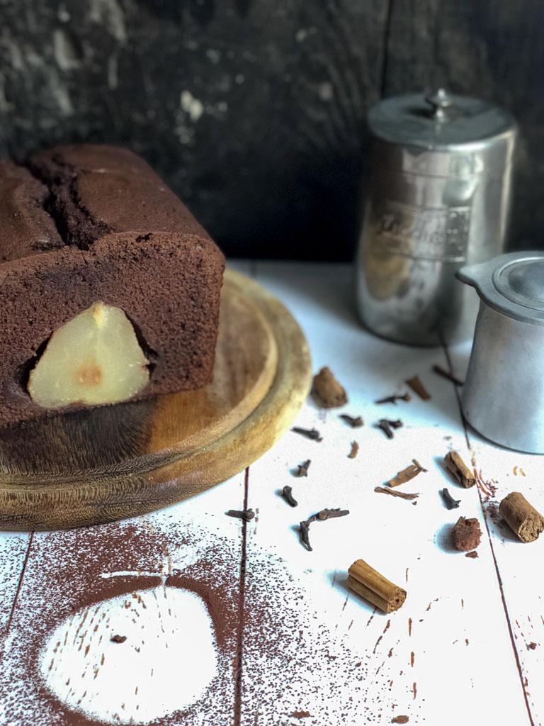 cake alle pere e cioccolato presentazione_1