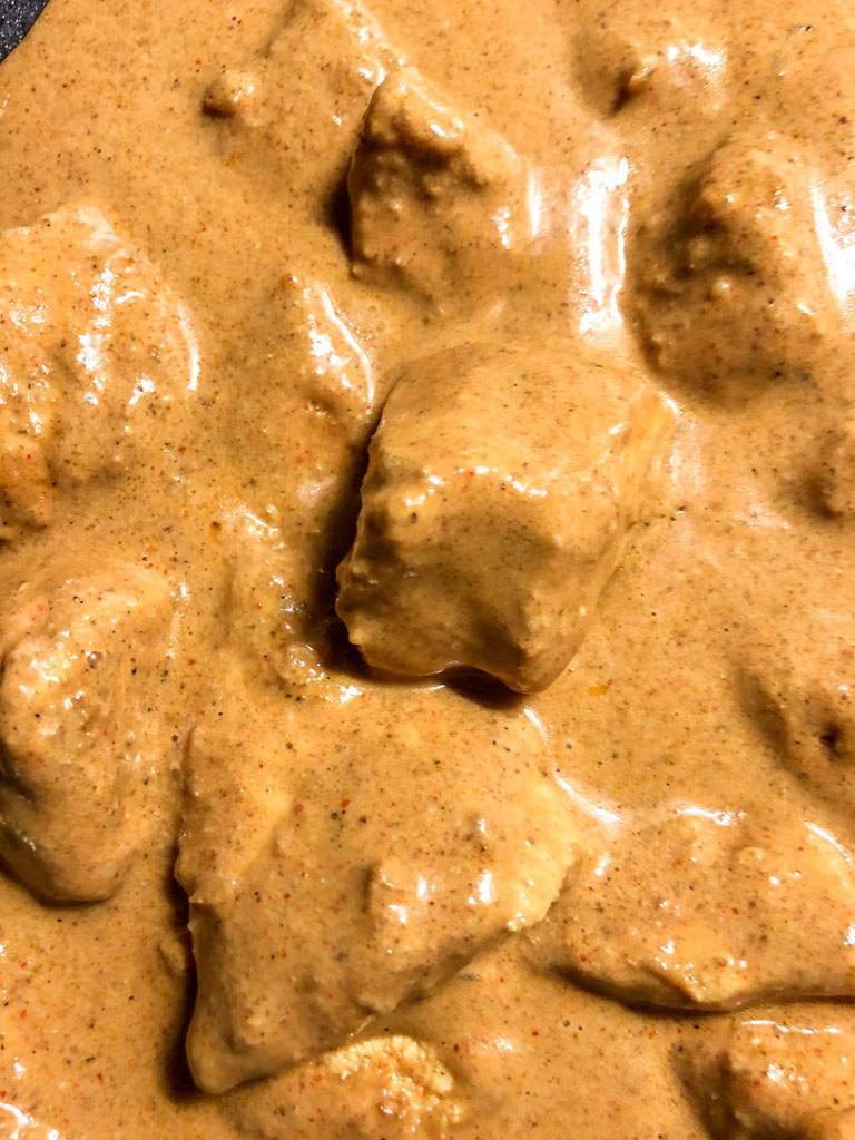 chicken tikka masala gourmama preparazione dettaglio