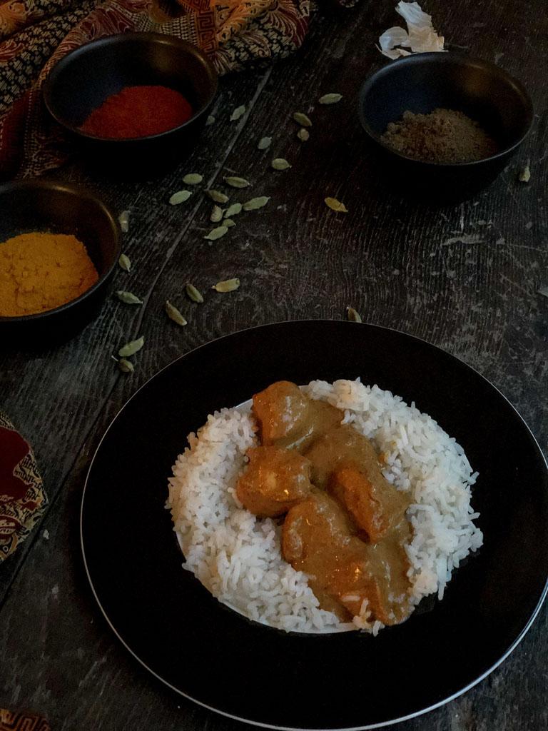 chicken tikka masala gourmama presentazione