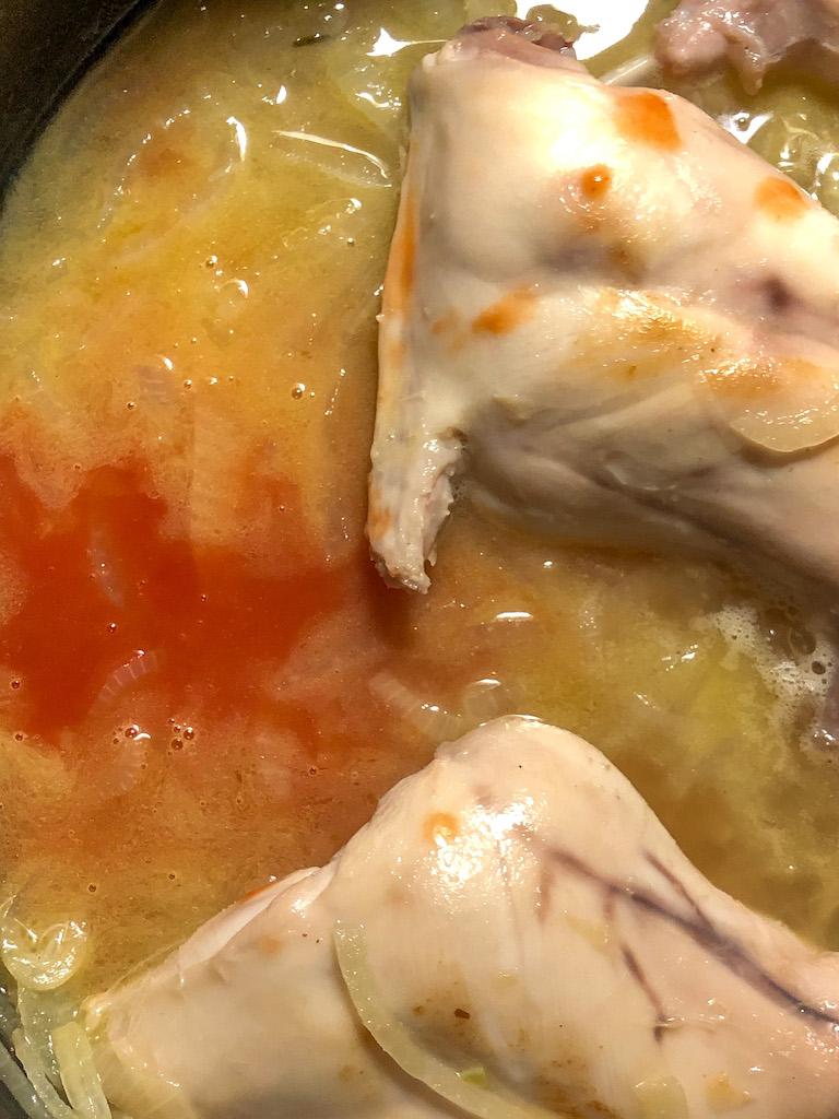 coniglio con uvetta e pinoli preparazione_4