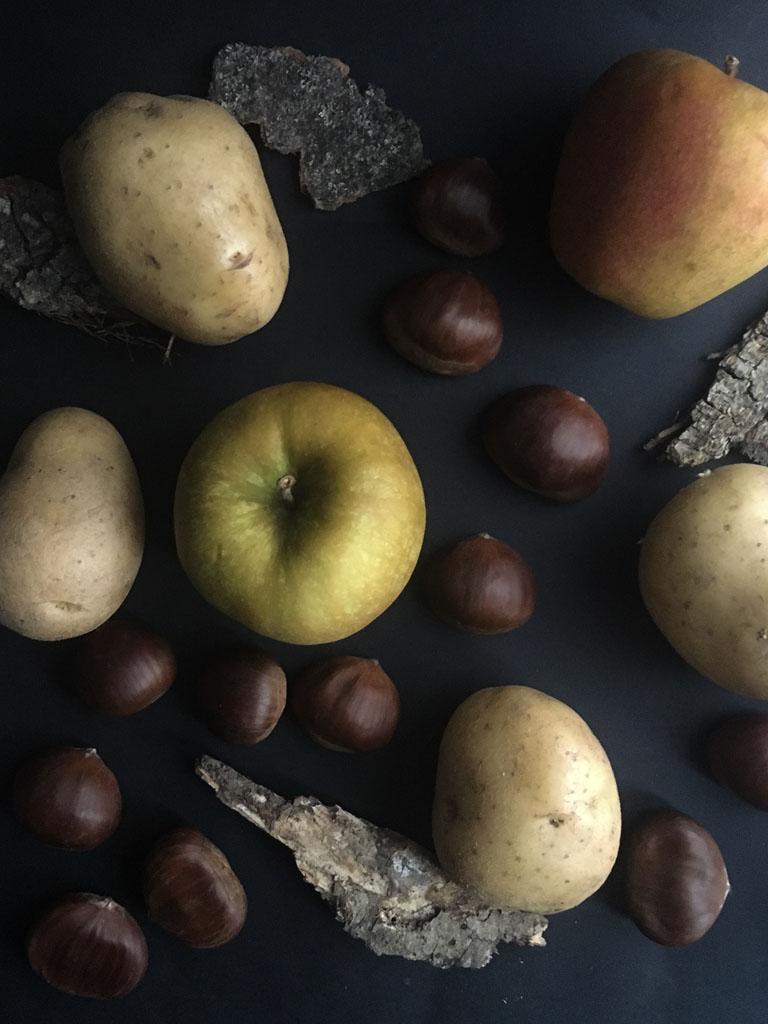 contorno di patate mele renoir e castagne ingredienti