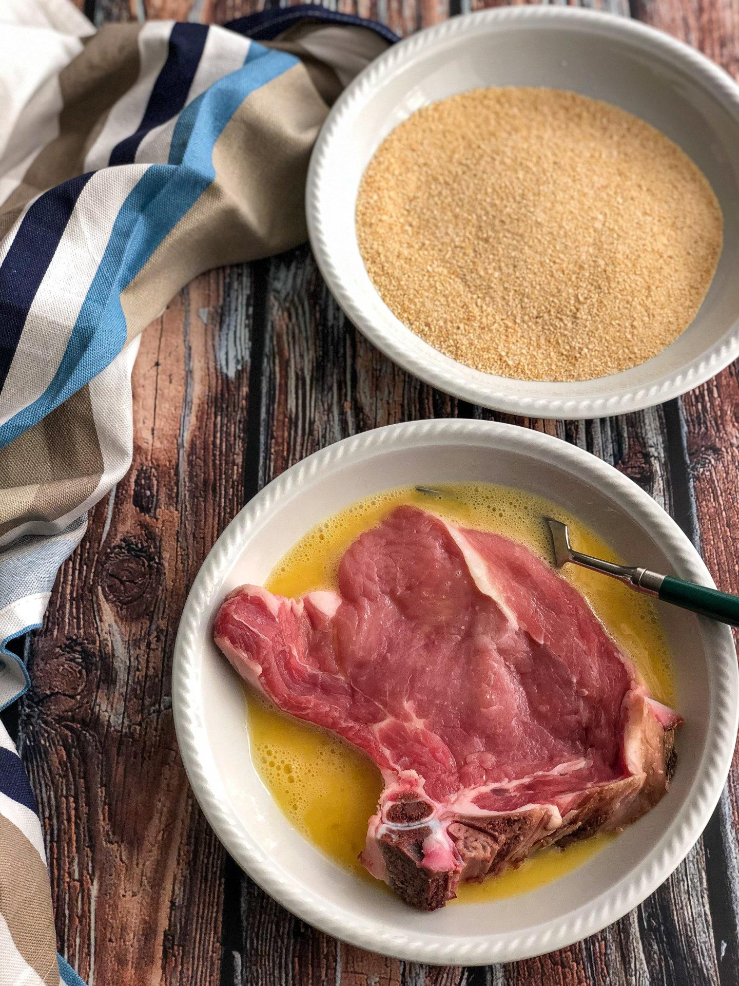 cotoletta alla milanese gourmama preparazione