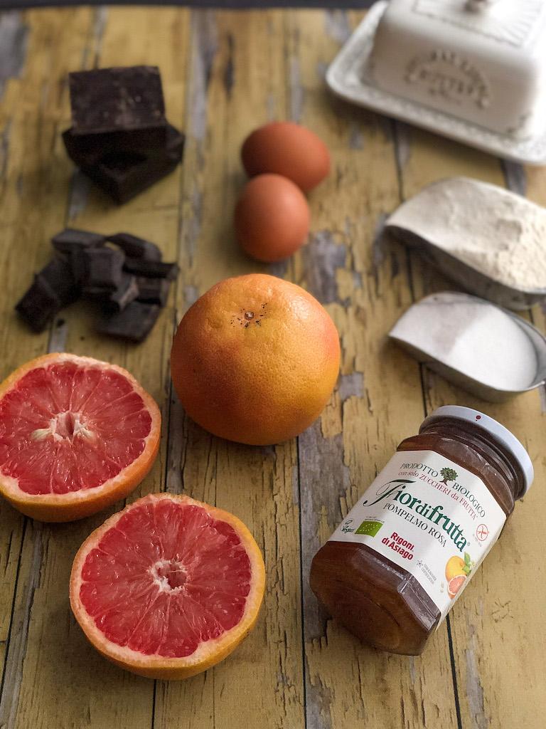 crostata al pompelmo rosa e mousse di cioccolato gourmama ingredienti_1