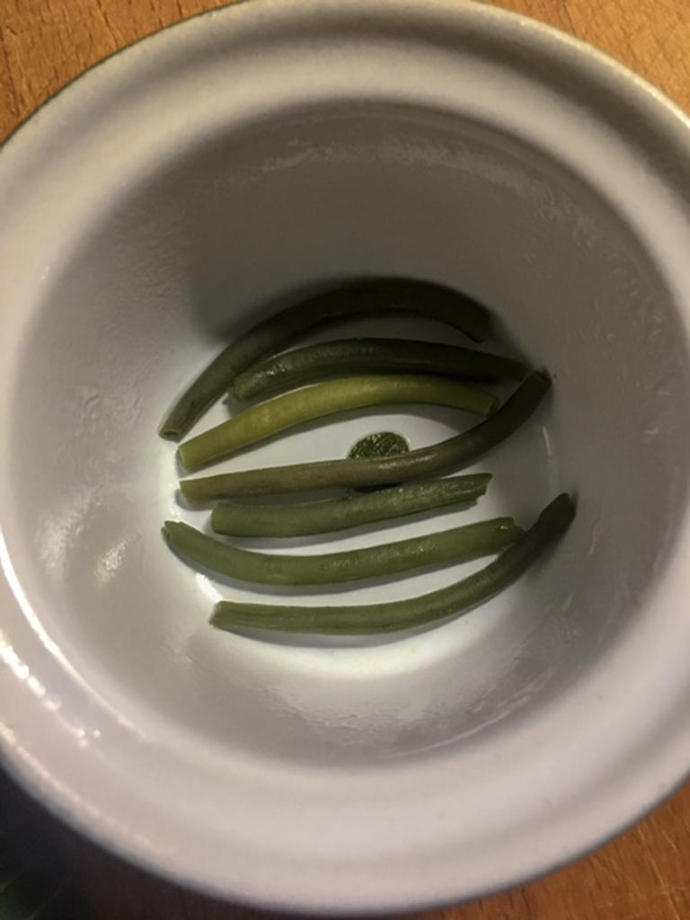 flan di fagiolini preparazione_1