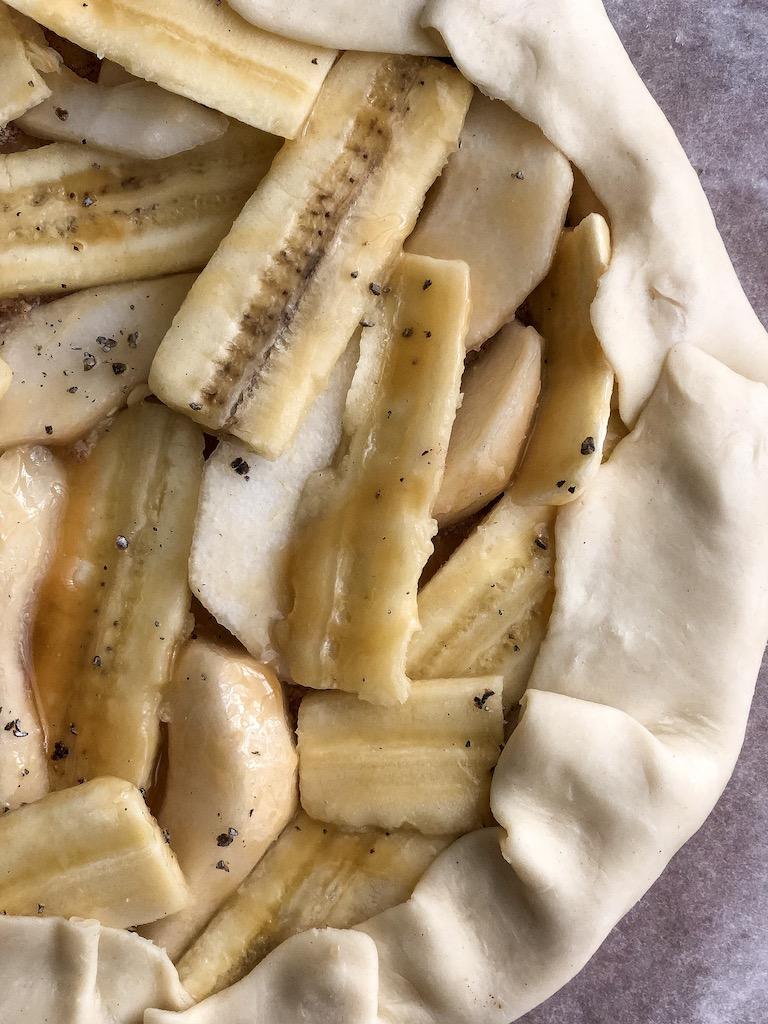 galette alle pere e banana preparazione gourmama_5