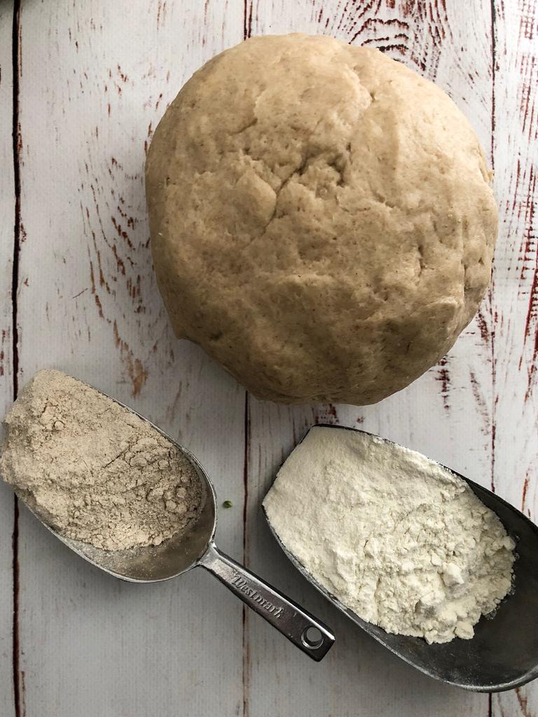 galette con broccolo romanesco e patate impasto_2