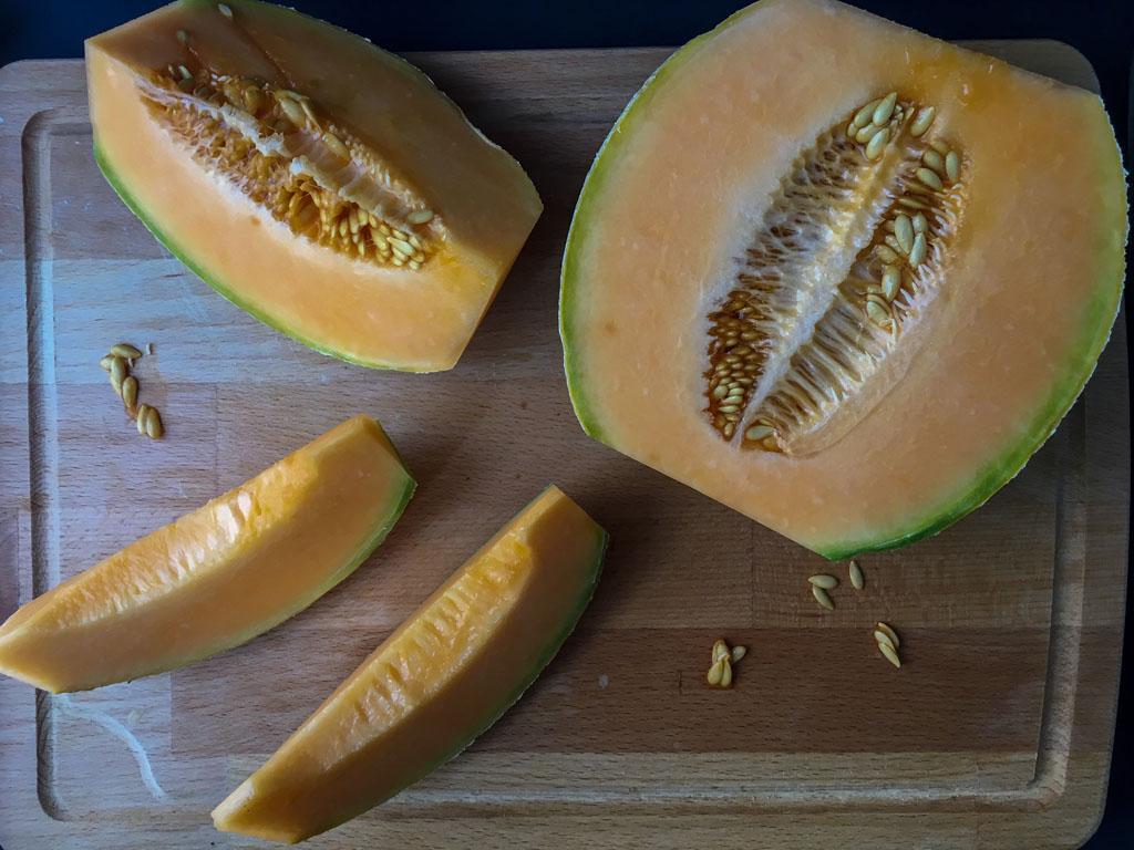 gelo al melone con crema di pistacchio melone