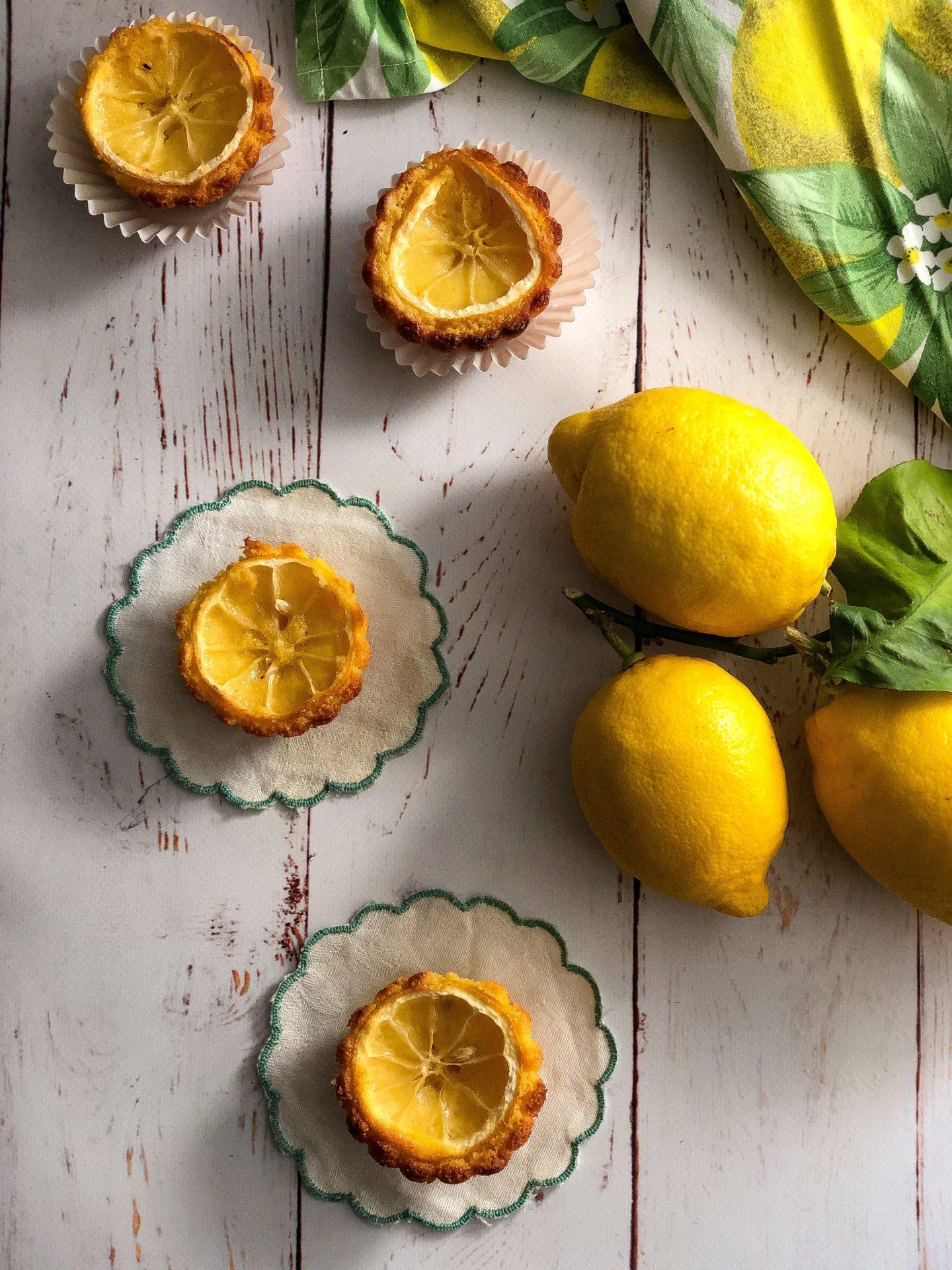 tortine di semolino al limone presentazione