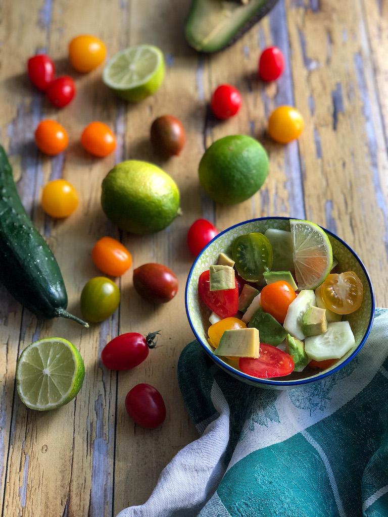 insalata di avocado gourmama presentazione