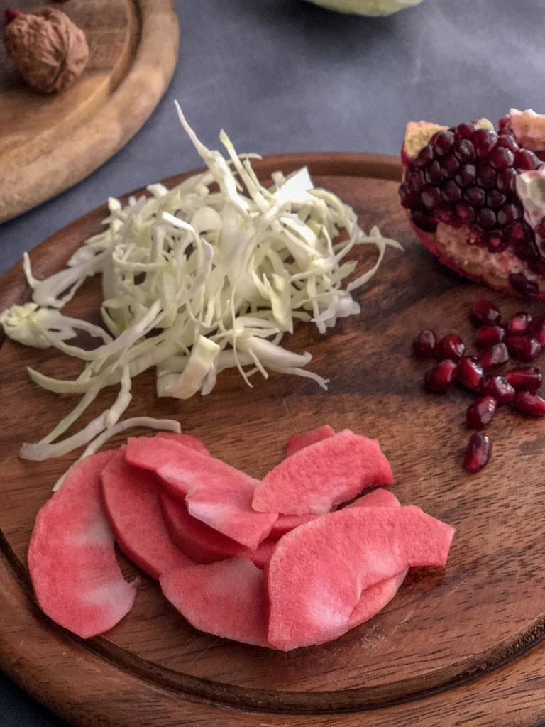insalata di cavolo bianco gourmama preparazione