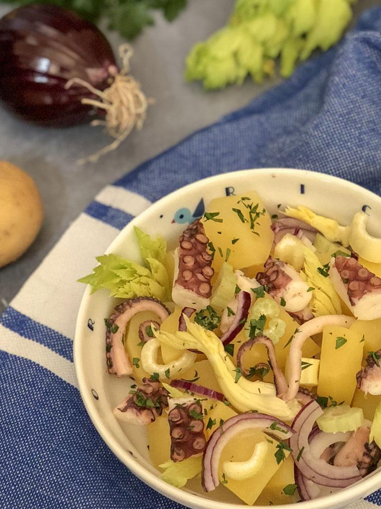 insalata di polpo gourmama presentazione dettaglio