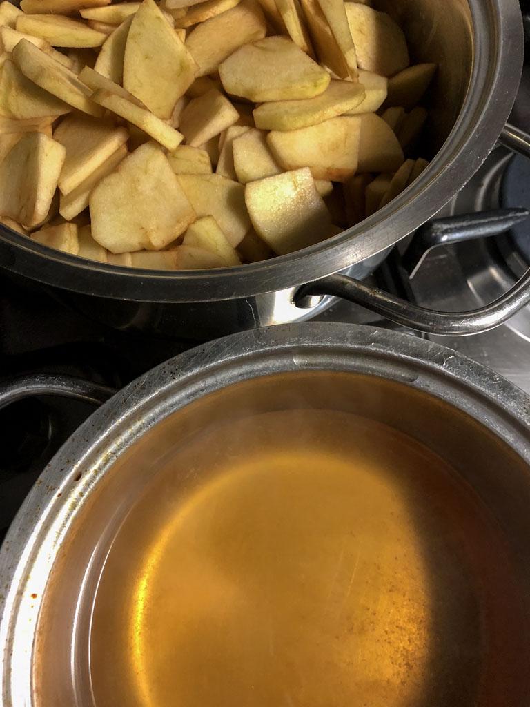 lé nièr beurre gourmama mele tagliate e sidro
