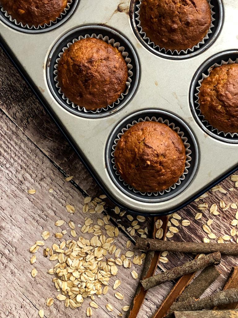 muffins con carote e banana cotti_1