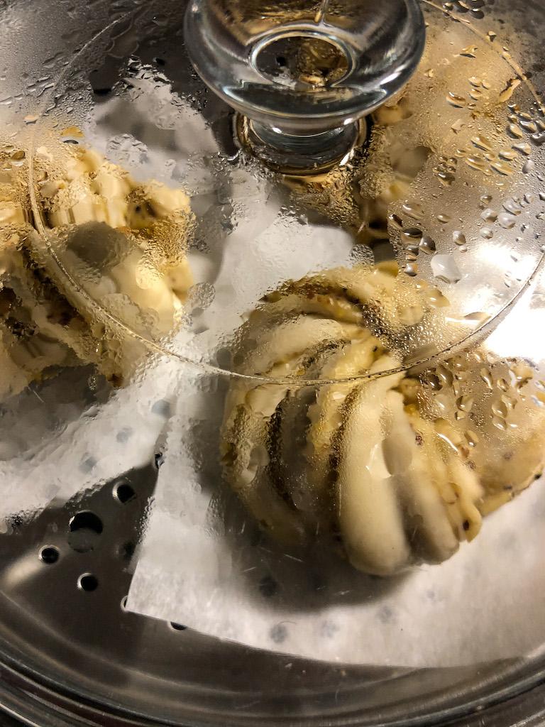 panini cinesi fioriti al vapore preparazione cottura