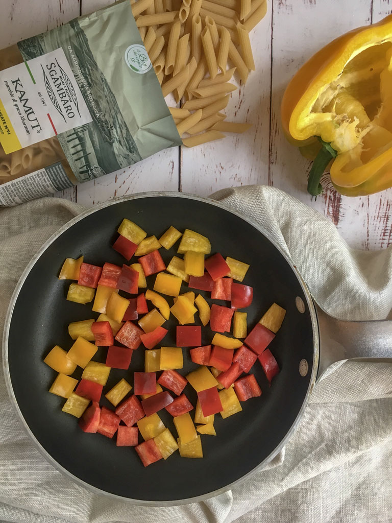penne di grano khorasan kamut con verdure e fatulì cottura verdure gourmama