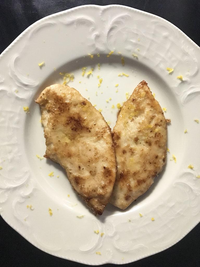 petto di pollo al limone presentazione