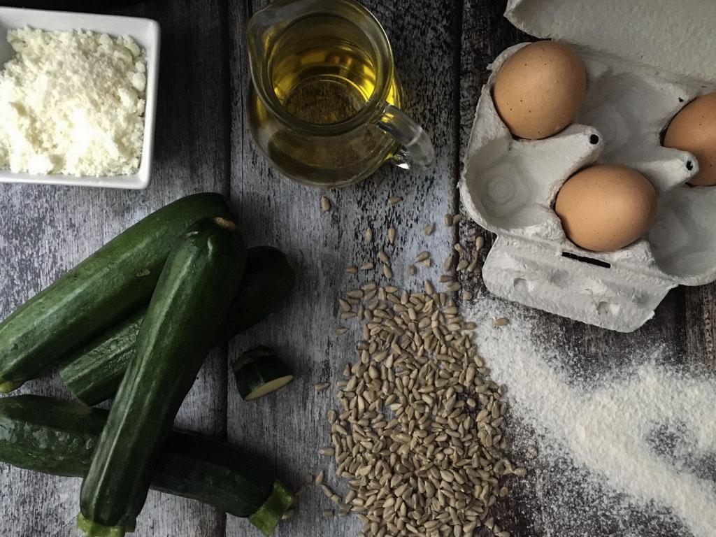 plumcake alle zucchine e semi di girasole ingredienti