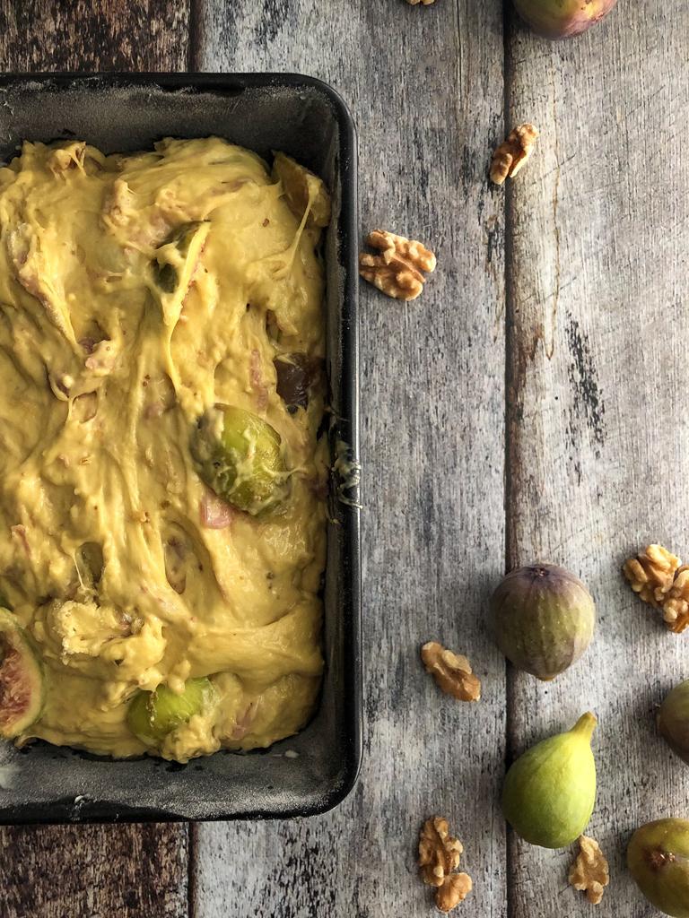 plumcake dolce salato al prosciutto crudo noci e fichi gourmama preparazione_5