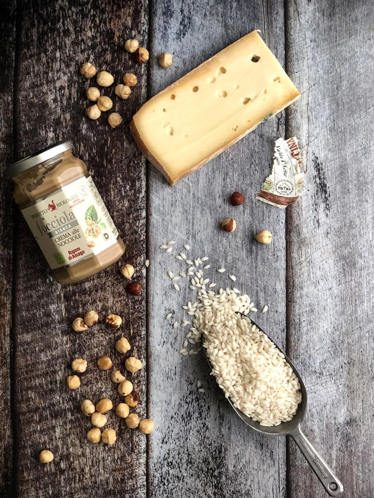 risotto alla crema di nocciole e fontina gourmama ingredienti