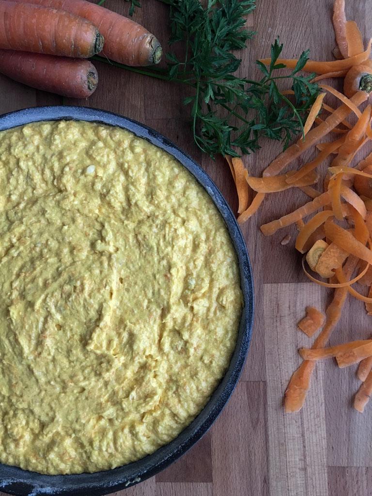 torta di carote da infornare
