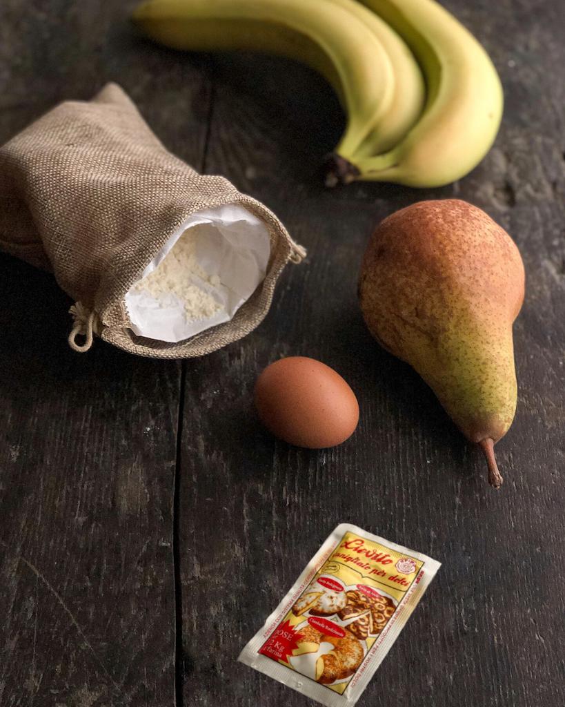 torta rovesciata alle banane e pere ingredienti