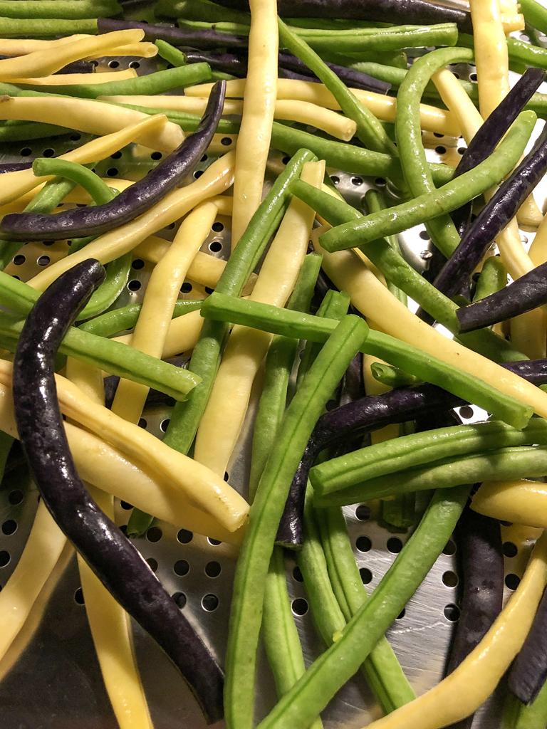torta salata ai fagiolini tricolori cottura fagiolini