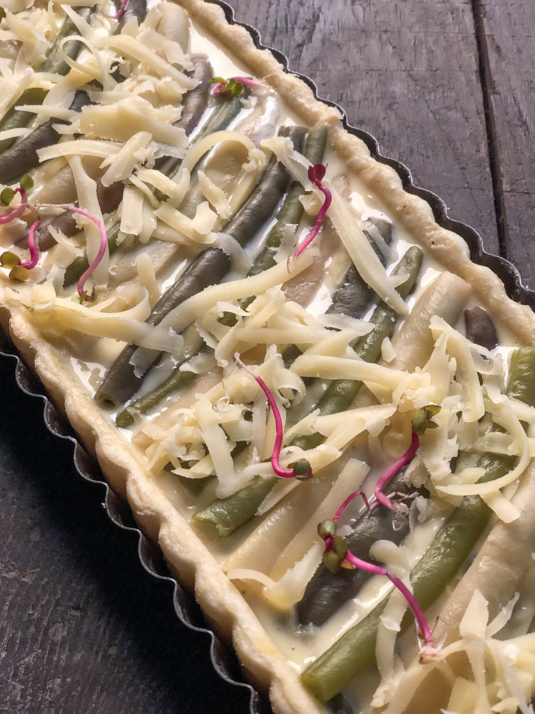 torta salata ai fagiolini tricolori preparazione_2