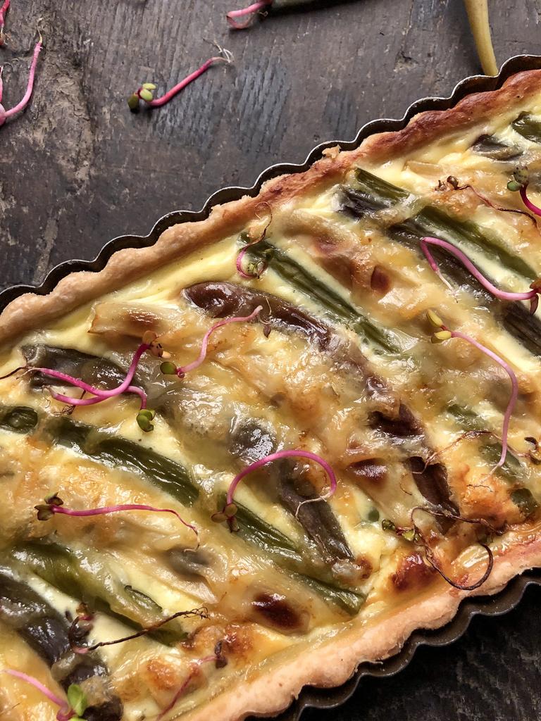 torta salata ai fagiolini tricolori presentazione dettaglio