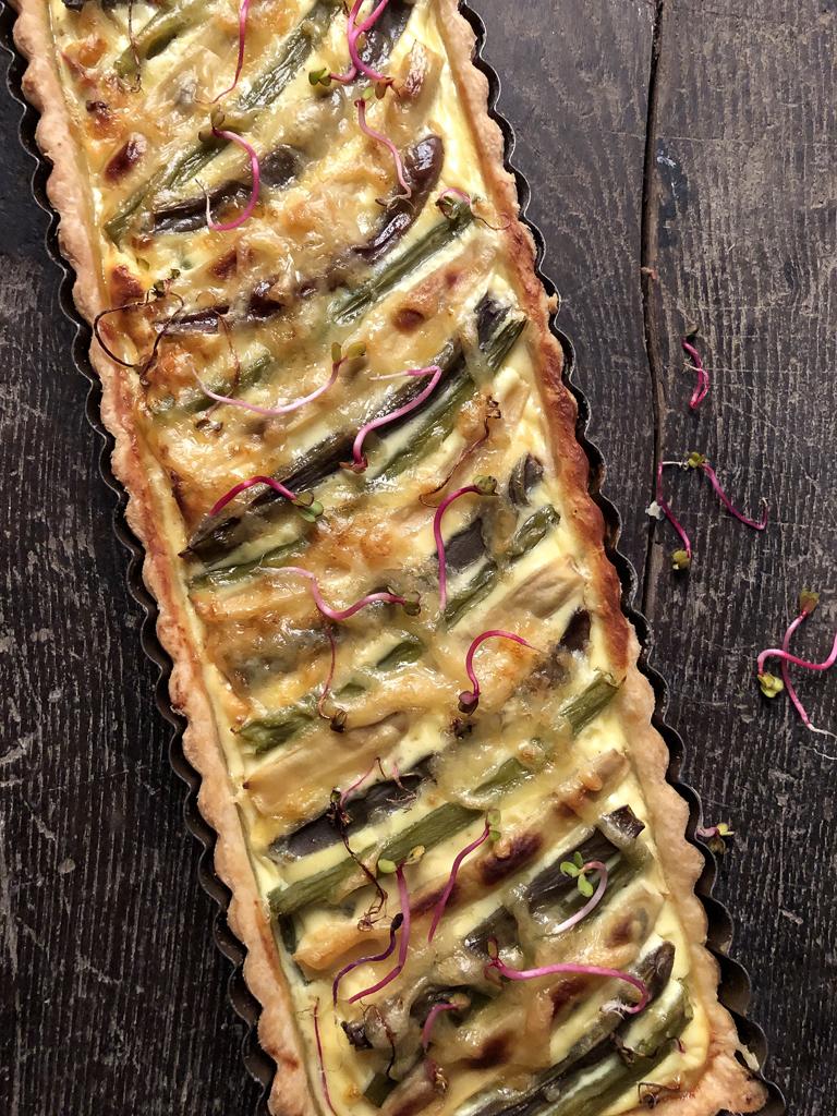 torta salata ai fagiolini tricolori presentazione
