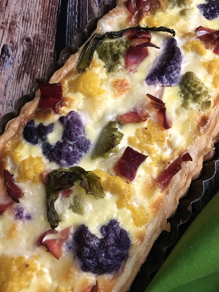 torta salata ai tre cavolfiori presentazione dettaglio