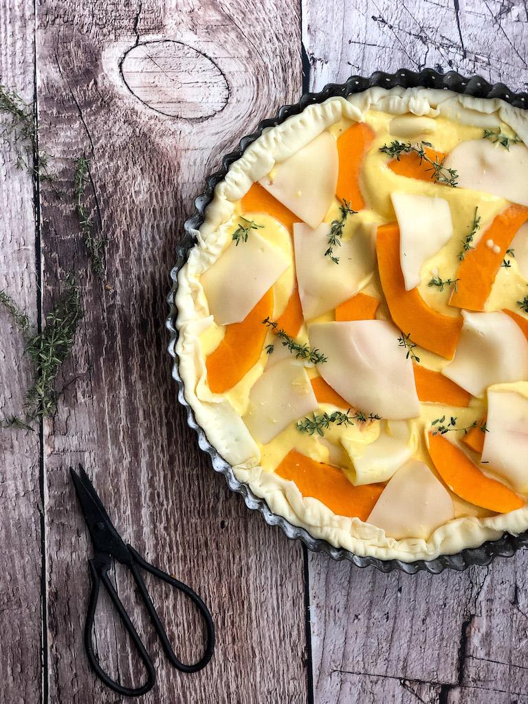 torta salata alla zucca e scamorza affumicata gourmama preparazione_2