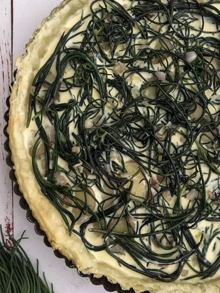 torta salata con agretti e patate gourmama da-infornare