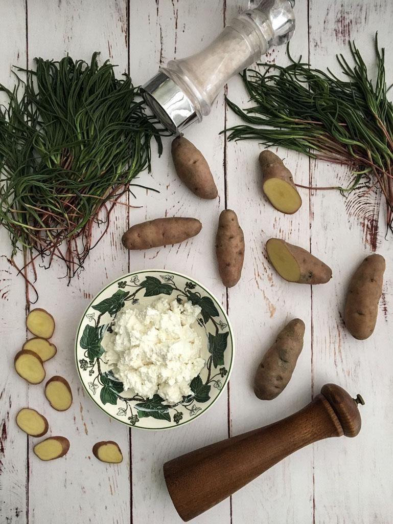 torta salata con agretti e patate gourmama ingredienti