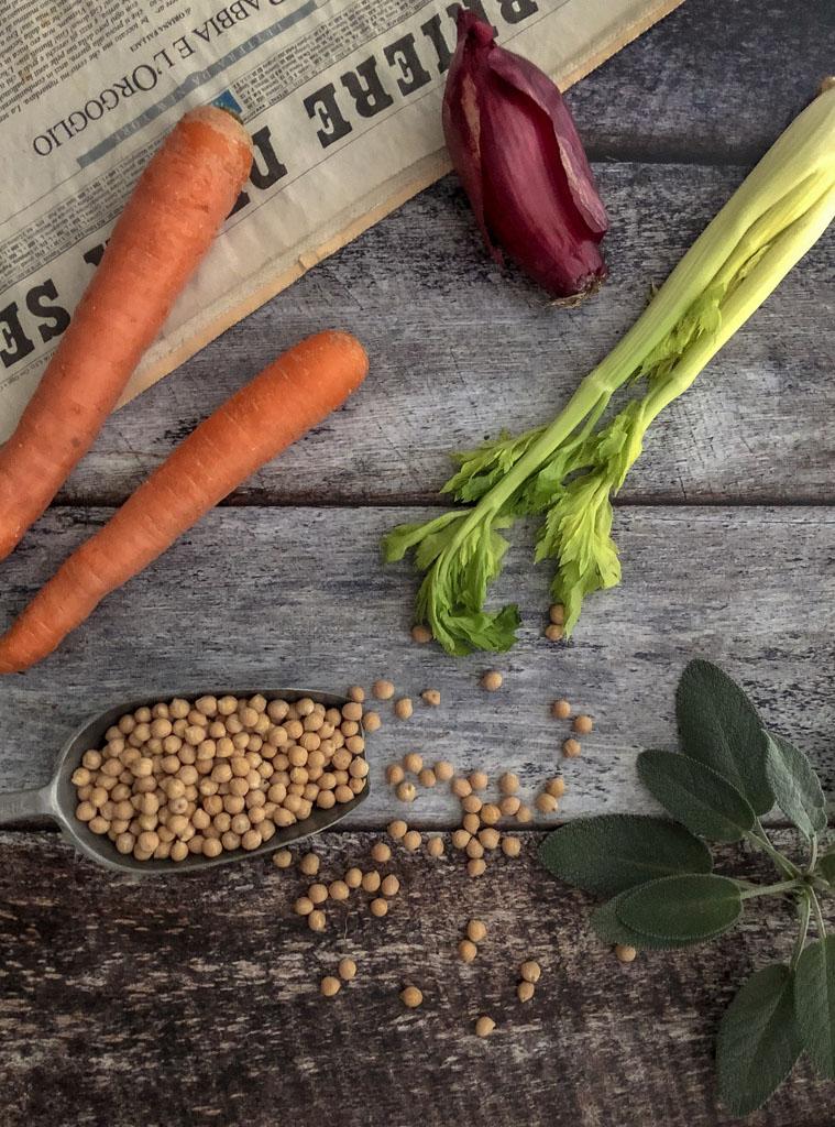 zuppa di ceci con verdurine ingredienti