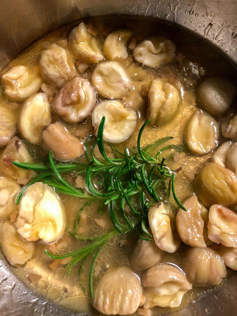zuppa di lenticchie e castagne ingredienti preparazione_1