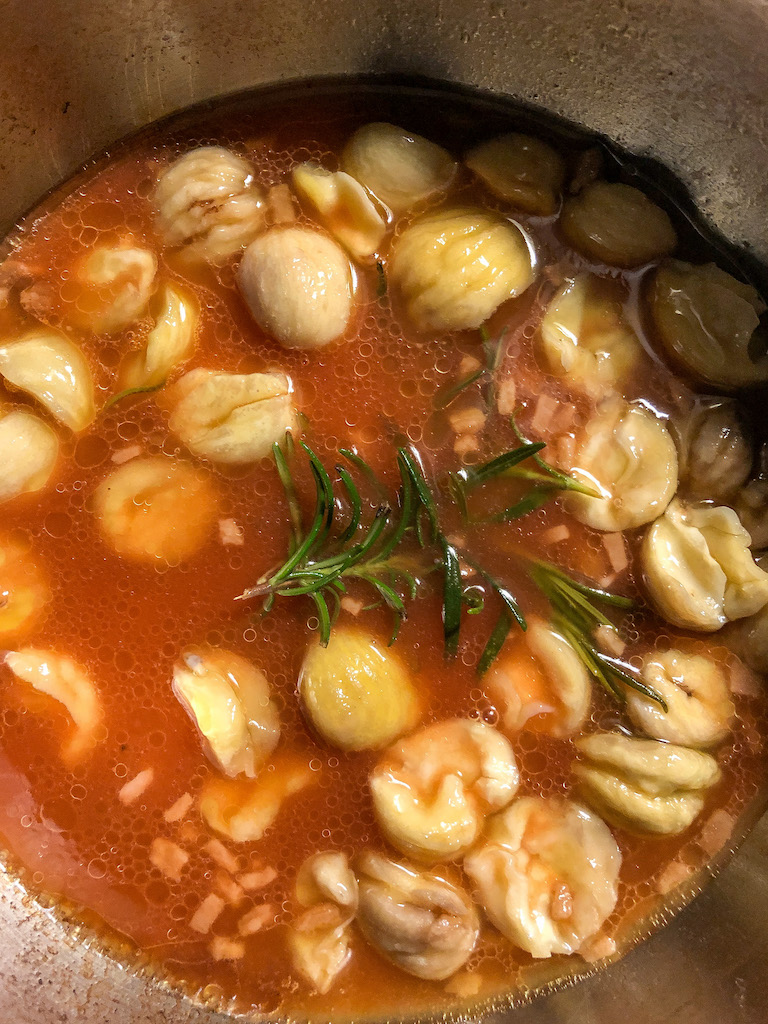 zuppa di lenticchie e castagne ingredienti preparazione_2